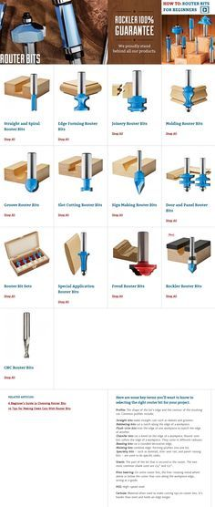Not sure what kind of router bit you need? We can help answer your questions or . - Not sure what kind of router bit you need? We can help answer your questions or you can check out o - Woodworking Power Tools, Router Woodworking, Woodworking Techniques, Woodworking Projects, Woodworking Classes, Woodworking Apron, Woodworking Machinery, Carpentry Tools, Woodworking Equipment