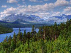 Rondane nasjonalpark ve městě Dovre, Oppland