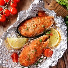 Might add a bit of mustard? - Quick and Easy Baked Salmon Steaks Cooking Salmon Steaks, Baked Salmon Steak, Salmon Steak Recipes, Healthy Steak Recipes, Cooking Recipes, Cooking Kale, Grilled Salmon, Healthy Meals, Paleo Recipes