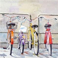 « Essayer de sadapter en » Florence, Italie - cest un cadeau pour tout amateur de vélo. Jai vu ces vélos belles lors dun voyage pour voir ma