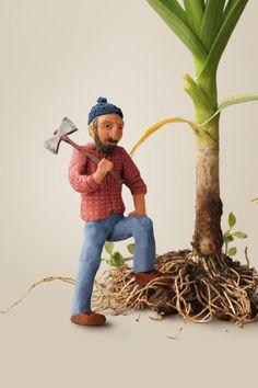 Leñador plasticina Planter Pots, Miniatures, 3d, Illustration, Inspiration, Art, Biblical Inspiration, Illustrations, Minis