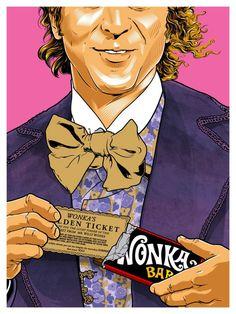 Willy Wonka Canvas Artwork by Joshua Budich Willy Wonka, Movie Poster Art, Film Posters, Illustrations, Illustration Art, Canvas Artwork, Canvas Prints, Pop Culture Art, Arte Pop