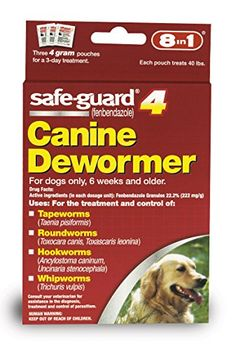 Safe Guard Canine Dewormer for Large Dogs, 4-Gram Excel http://www.amazon.com/dp/B000FPH2FQ/ref=cm_sw_r_pi_dp_7h4hxb0SM9Z32