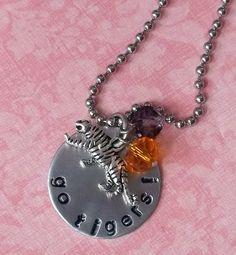 Hand Stamped Clemson Tiger Necklace