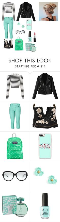 """""""Cosette Carriedo"""" by janoczkirenata on Polyvore featuring Miss Selfridge, Venus, Dr. Martens, JanSport, Casetify, Coach, maurices and MAC Cosmetics"""