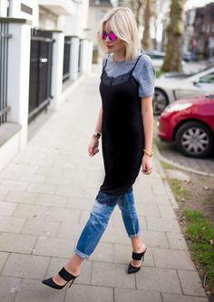 SLIP DRESS AND T SHIRT: 15 looks que vão... - FashionBreak