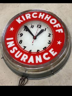 Insurance Advertising Clock