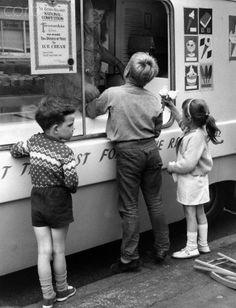 Children Buy Ice Cream From Van
