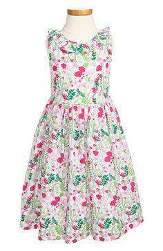 Oscar de la Renta Ruffle Collar Dress (Toddler Girls, Little Girls Big Girls) available at #Nordstrom