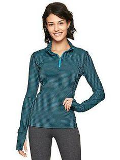 GapFit stripe half-zip running pullover. L
