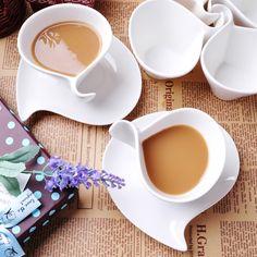 Moda de lujo hueso china tazas de café juego de cerámica  (Mainland))