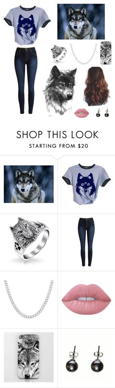 """""""Wolves!!!❤️❤️❤️"""" by be-robinson ❤ liked on Polyvore featuring Bling Jewelry, Sterling Essentials, Lime Crime and Black"""