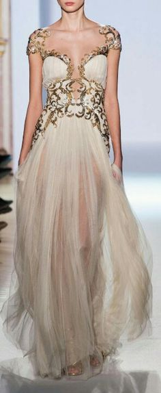 White & Gold Goddess Gown