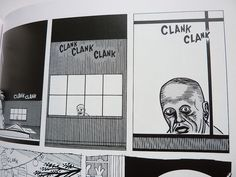 From Daniel Clowes' nightmarish, Lynch-like series 'Like a Velvet Glove Cast In Iron'. Simplistic shots that rely a lot on symmetry and careful composition.