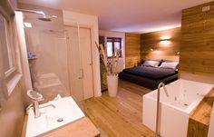 Sypialnia w górskim stylu