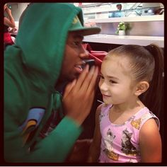 Tyler the Creator and baby wolf Chloe Clancy <3
