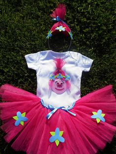 Princess Poppy Trolls Tutu Dress Poppy Trolls Smashing the