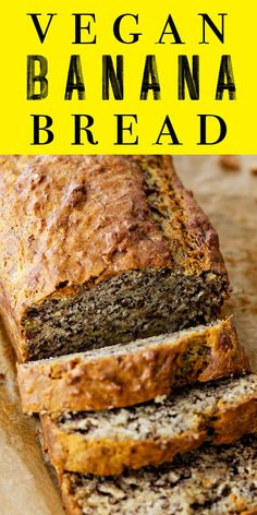 1 hour · Vegan · Makes 1 loaf · Banana bread has gone vegan! This version swaps out the butter for oil and the egg for a flax egg. Once baked, you can barely tell the difference from regular banana bread! Banana Bread No Eggs, Flours Banana Bread, Easy Banana Bread, Banana Bread Recipes, No Butter Banana Bread, Baked Banana, Egg Free Banana Bread Recipe, Flax Egg Recipe, Vegan Sweets