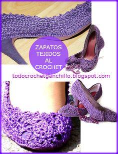 Todo crochet: Renueva tus zapatos con crochet!