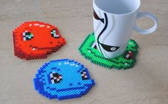 SALE  Pokemon Bulbasaur Squirtle  Charmander by popthatcassette, $15.00 Perler Coasters, Snitches Get Stitches, Pokemon Charmander, Plastic Canvas, Mlp, Perler Beads, Crochet Earrings, Geek Stuff, Artwork