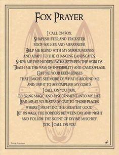 Fox Prayer http://www.blackmagic1313.com