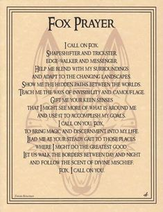 Fox Prayer