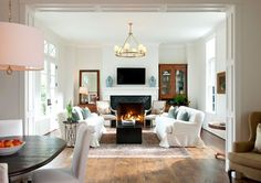 HP17 - traditional - family room - dallas - by Ellen Grasso & Sons, LLC