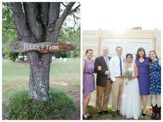 """Wood wedding reception sign.  Choose a word/phrase that can be reused in your own garden, like """"garden party"""""""