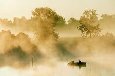 Misty morning fishers. 20100731. Photo by Gordon Wolford.