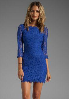 DIANE VON FURSTENBERG Zarita Dress in Vivid Blue at Revolve Clothing - Free Shipping!