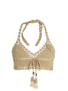 Jannah Skirted crochet bikini top | She Made Me | MATCHESFASHION.COM US