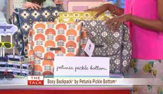 """Did you catch PPB on the special episode of """"The Talk,"""" featuring the best products for expectant mothers? The entire studio audience of lucky moms-to-be received a Petunia Pickle Bottom Boxy Backpack!"""