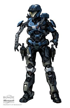 """haloconceptart: """"Halo: Reach concept art for Kat. By Isaac Hannaford. Armor Concept, Game Concept, Concept Art, Odst Halo, Halo Armor, Halo Reach Armor, Halo Spartan, Halo Series, Halo Game"""