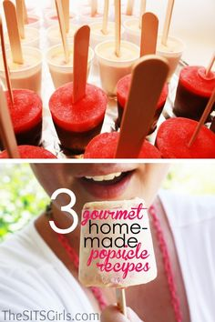 3 Homemade Popsicle Recipes #food #recipe #summer
