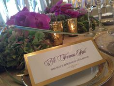 gold foil place cards http://www.theeventessentials.com/