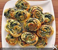 Blätterteig - Spinat - Schnecken (Rezept mit Bild) | Chefkoch.de