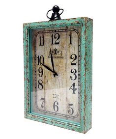 Look what I found on #zulily! Turquoise Hotel California Wood Wall Clock #zulilyfinds