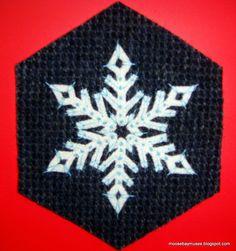 Stitching Society Wool Hexagon snowflake1