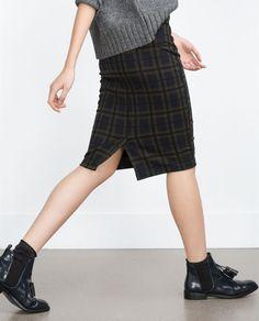 Image 3 of CHECK MINI SKIRT from Zara