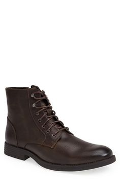 Free shipping and returns on Robert Wayne 'Elbio' Plain Toe Boot (Men) at Nordstrom.com. Vintage-textured leather forms a sharp boot cast in a sleek silhouette.