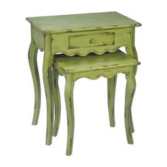 I pinned this 2 Piece Verde Stacking Table Set from the Milk and Honey Home event at Joss and Main!