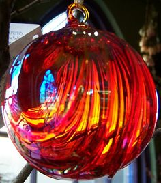 These beautiful glass orbs are m