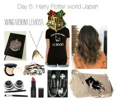 """Day 5: Harry Potter world Japan"" by harrypotter-gurl ❤ liked on Polyvore featuring LE3NO, Smashbox and NYX"
