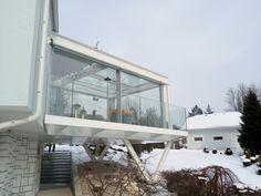 Exkluzívna Zimná záhrada motoricky ovládané posuvné dvere motoricky ovládané exteriérové tienenia sklenená podlaha sklenené zábradlie  oceľová konštrukcia Outdoor Decor, Home Decor, Homemade Home Decor, Decoration Home, Interior Decorating