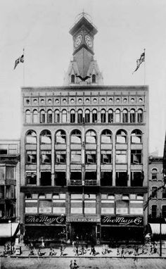 The beautiful picture seen above is the first May Company in Cleveland. It was actually the E. R. Hull  Dutton Company until May Company bought Hull  Dutton in 1899. Interesting note…the building you see is actually on Ontario Street. It was not until 1901 that the May Company expanded onto Euclid Avenueat the site that you would see today. The building on Euclid Avenue went through many expansions until 1931, when the Cleveland May Company store was the largest department store in the stat...