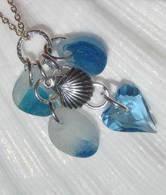 Sea Glass Necklace-  English Multi Sea Glass. $28.00, via Etsy.