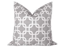 ONE  Gray Pillow Chain Link Decorative Pillow by thebluebirdshop, $15.00