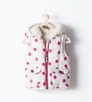 PADDED VEST WITH HOOD - Coats - Baby girl (3 months - 3 years) - KIDS | ZARA United States