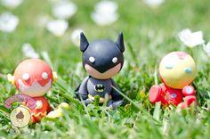 Flash, Batman, Iron Man, cute and handmade.