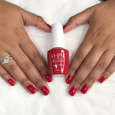 We ❤️#TheThrillOfBrazil Click the link to learn about the benefits of #OPIGelColor. #red #rednails #opithethrillofbrazil #opigel #gelmani #brightnails #summernails Gel Nail Colors, Gel Color, Opi Colors, Heart Nail Art, Heart Nails, Red Nail Polish, Red Nails, Spring Nails, Summer Nails